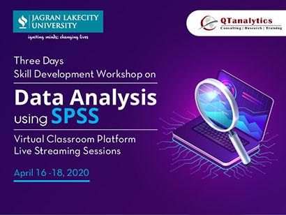 Three Days Skill Development Workshop on Data Analysis using SPSS