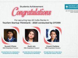 Student Acheievemtn in Hospitality JLU bhopal 2020