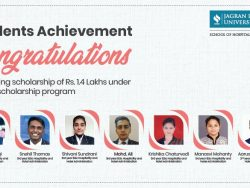 Scholarship awards to JLU bhopal students