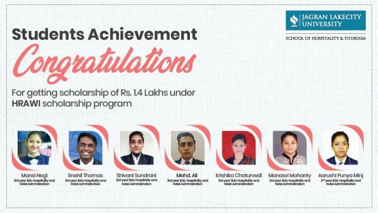 Scholarship awards to JLU bhopal students