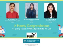 Placement 2020 JLU Bhopal in PUMA