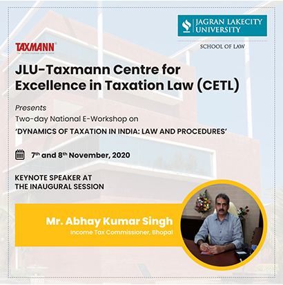 National Workshop on 'Dynamics of Taxation in India: Law and Procedures'