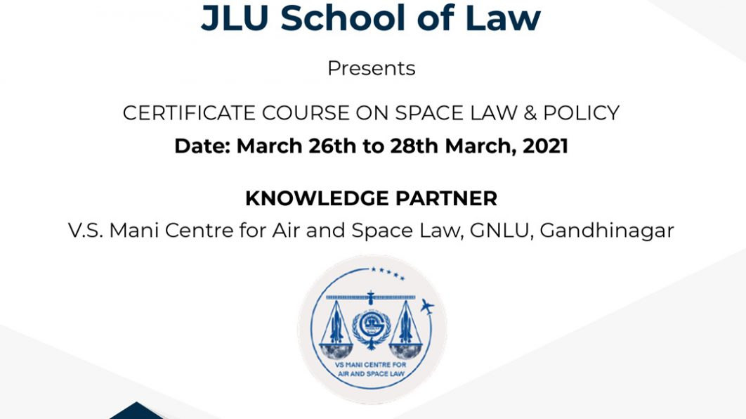Certificate Course on Space Law & Policy