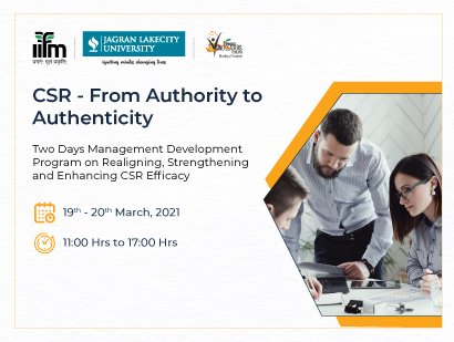 Management Development Program : CSR – From Authority to Authenticity
