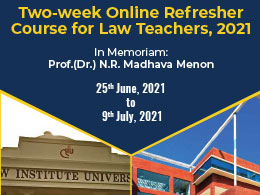 Refresher Course for Law Teachers